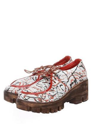 Крутые кожаные  туфли phany