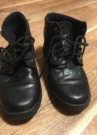 Кожаные туфли ботинки демисезонные стелька 20