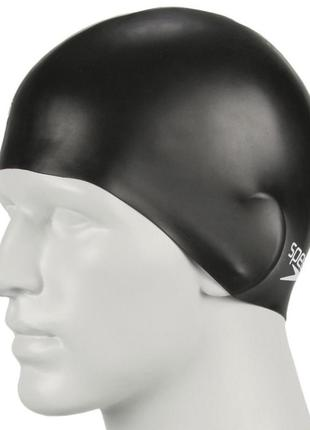 Шапочка для плавания speedo plain moulded silicone cap бдя бассейна оригинал спидо
