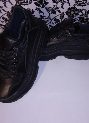 Кожаные кроссовки р35-41