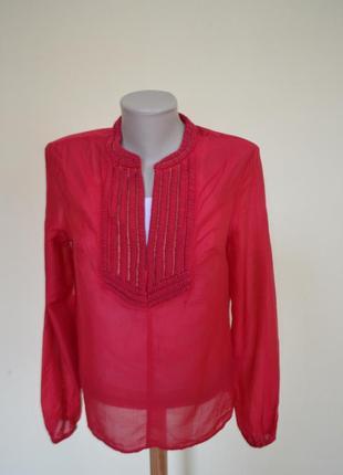 Шикарная нарядная воздушная блузочка малинового цвета