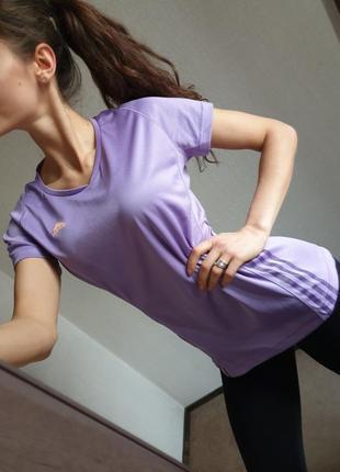 Шикарная качественная спортивная футболка термо от adidas оригинал