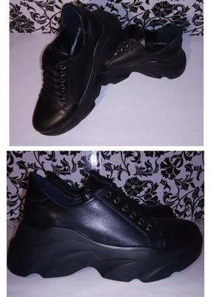 Кожаные кроссовки баленсиага р35-41