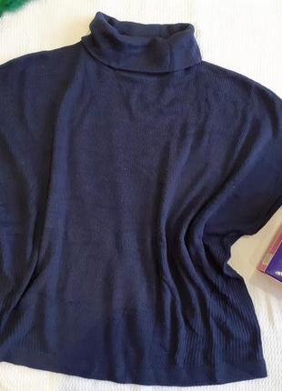 Накидка пончо болеро кофта без рукавов с горлом жилет жилетка