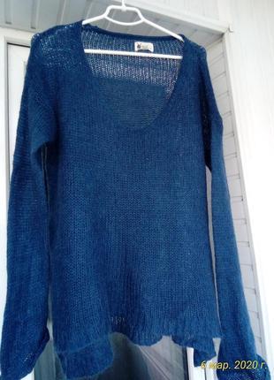 Женский мохеровый свитер  паутинка