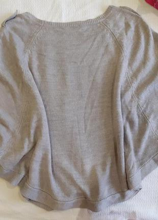 Накидка пончо болеро кофта без рукавов  жилет жилетка свободная кардиган стильный