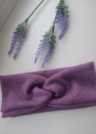 Повязка чалма трикотаж ангора мягкая повязка на голову аксессуары для волос