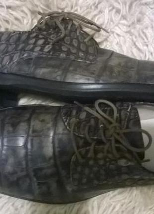 Туфли мужские италия кожа р 42,5 - 43.