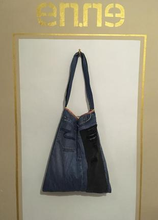 Срочно! переезд! новая большая двухсторонняя джинсовая пляжная городская сумка