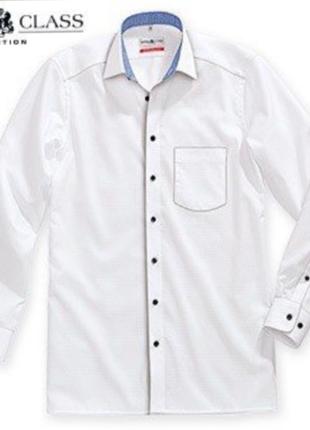 Мужская белая рубашка от royal class модель modern fit 100% хлопок