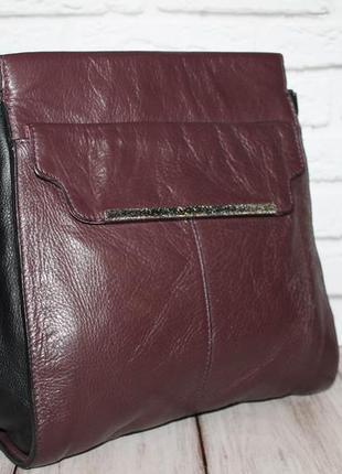 Лаконичная кожаная сумка от clarks 100% натуральная кожа