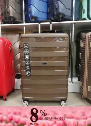 Акция распродажа. ударопрочный чемодан из полипропилена wings