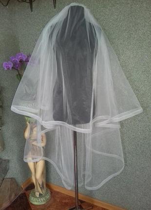Свадебная фата с лентой