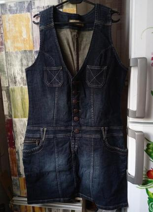 Сарафан джинсовый размер 50