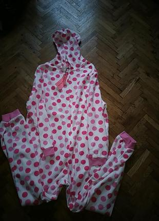 Плюшевая пижама комбинезон с капюшоном кигуруми adore