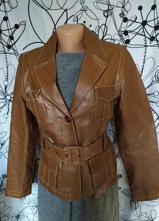 Куртка курточка жилет трансформер 100%кожа ягненка