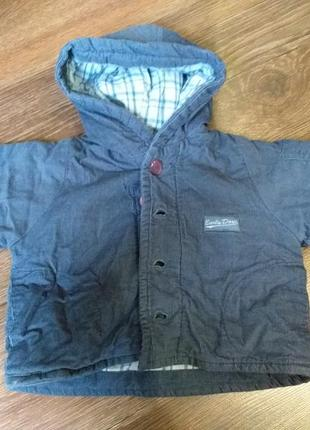 Куртка мальчику весна/осень 0-3 месяца, отличное состояние