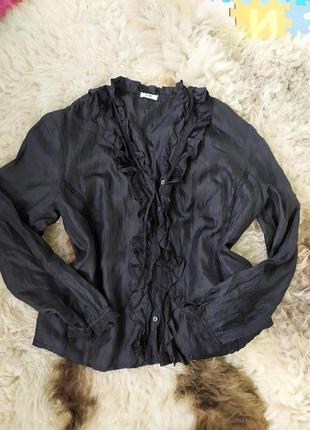 Черная блуза с кружевом gerry weber