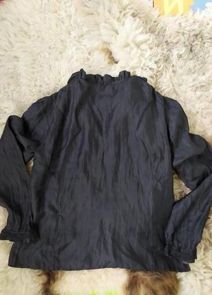 Черная блуза с кружевом gerry weber3 фото
