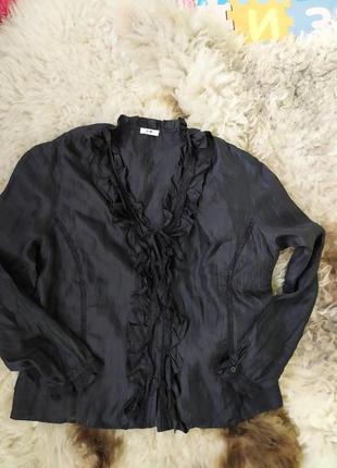 Черная блуза с кружевом gerry weber4 фото