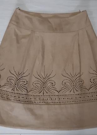 Женская замшева юбка