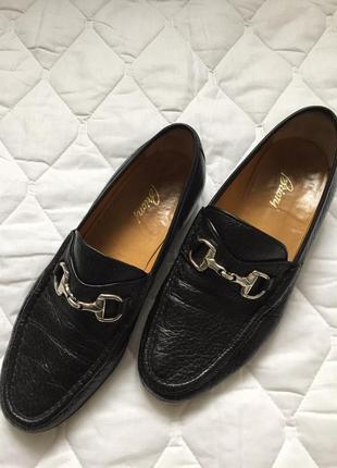 Шикарные черные туфли brioni оригинал 43.5р