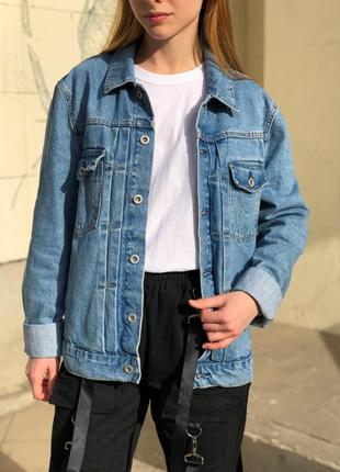 Объёмная джинсовая куртка джинсовка оверсайз {oversize boyfriend}