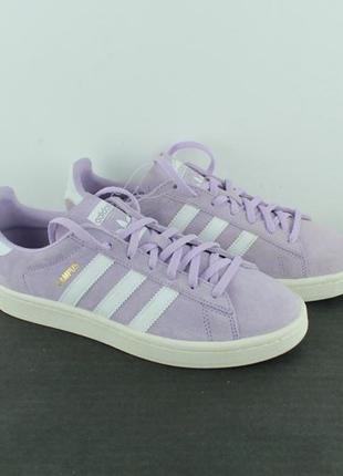 Оригинальные кожаные кроссовки adidas campus sneaker purple by9848