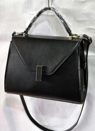 Маленькая сумка черного цвета через плечо