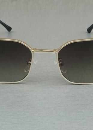 Bvlgari очки женские солнцезащитные в золотой металлической оправе