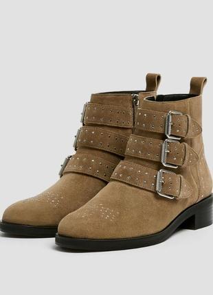 Ботинки кожаные pull and bear