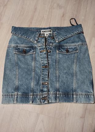 Джинсовая юбка h&moschino