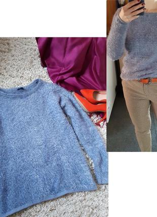 Актуальный мягкий свитер/травка в серо/сиреневом цвете,  tom tailor,  p. 8-12