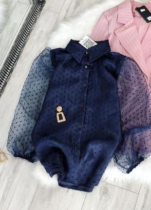 Блуза з прозорим рукавом 160106 фото