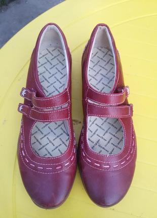 Удобные кожаные туфли medicus 37-38