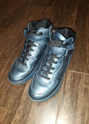 Ботинки кожанные  geox