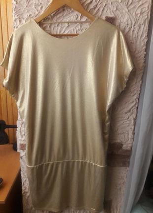 Золотое платье mohito