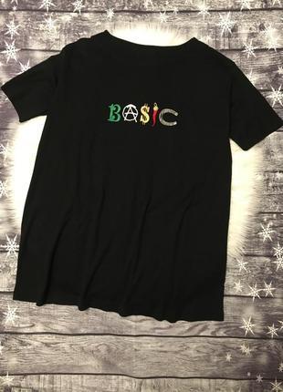 Женская стильная удлиненная футболка туника moschino