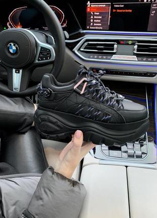 Buffalo london black женские кроссовки баффало чёрные