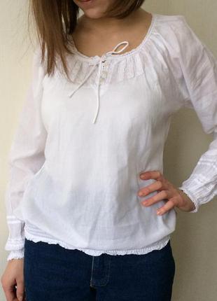 Блуза рубашка натуральная reserved