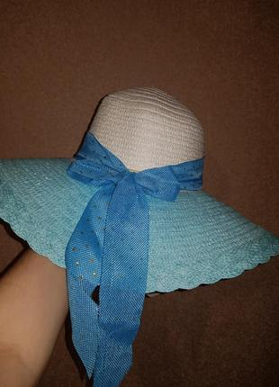 Шикарная шляпа с широкими полями распродажа
