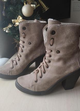 Замшевые ботинки new look, 40р.