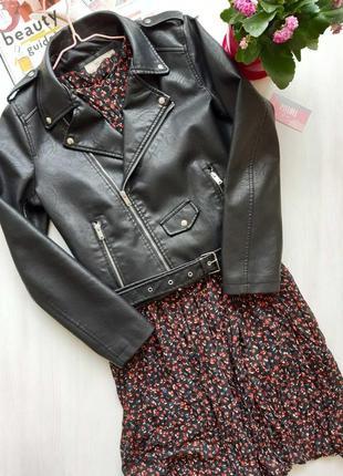 Куртка косуха из экокожи с ремнем черная косуха жіноча косуха чорна куртка косуха4 фото