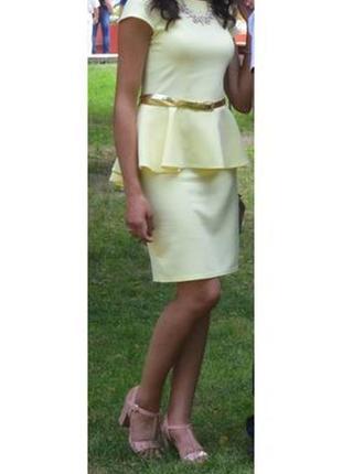 Сукня сонячного кольору