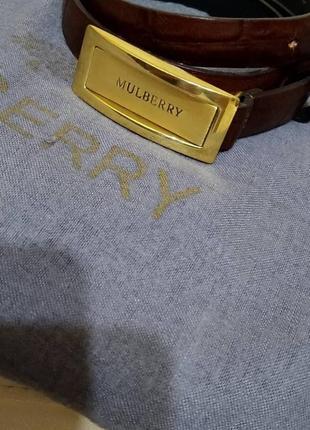 Фирменный ремень mulberry.оригинал.пыльник.