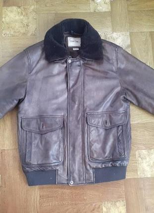 Кожаная куртка geox