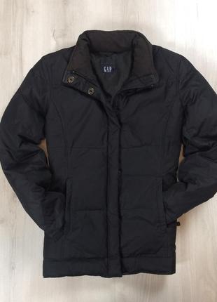 F9 n8  женский пуховик gap черный куртка гап парка пух гусиный