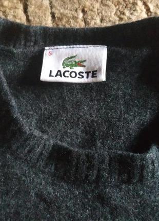 Очень теплый шерстяной свитер lacoste, франция, оригинал!