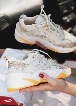 Nike air m2k tekno крутые женские кроссовки найк кожаные (весна-лето-осень)😍