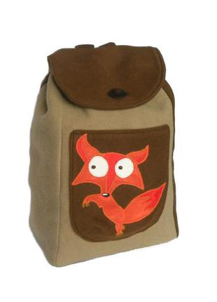 Авторский рюкзак с лисой (ручная работа)